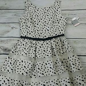Taylor Dresses Ivory Polka Dot